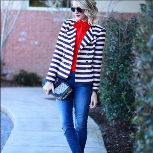 Cabi Love Carol Collection Striped Nautical Blazer